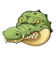 Crocodile head mascot vector