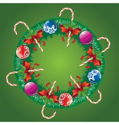 Decorated Christmas Wreath3 vector