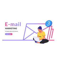 E-mail marketing for increasing sales and revenue vector