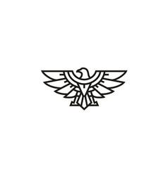 eagle hawk falcon wings badge logo vector image