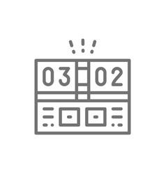 electronic sports scoreboard line icon vector image