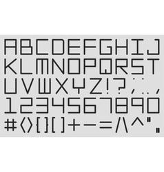 English alphabet in digital style vector image