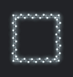 Festive square glowing garland vector