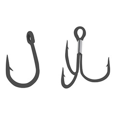 Fishing hooks vector image