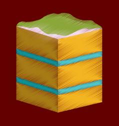 flat shading style icon piece of cake vector image