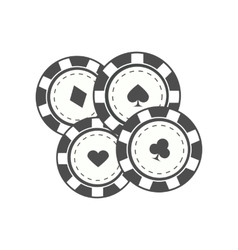 Gambling Chips In Flat Design vector image
