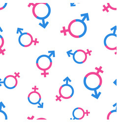 gender equal seamless pattern background business vector image