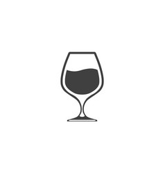 Glass with wine isolated on white background vector