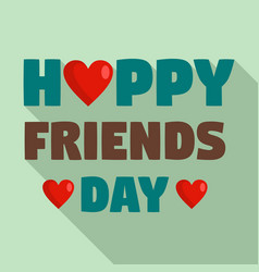 happy friends day heart logo flat style vector image
