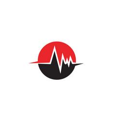 Heart beat line template vector