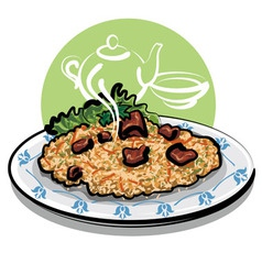 hot pilaf vector image