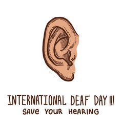 International ear day protect concept background vector