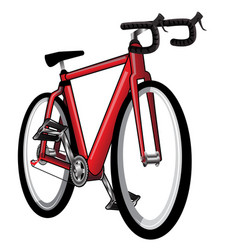 isolated red bicycle vector image