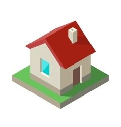 Isometric House Icon logo vector image