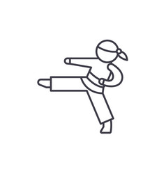karate line icon concept karate linear vector image