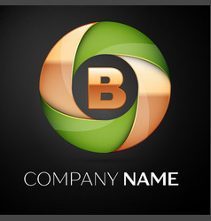 letter b logo symbol in the colorful triangle on vector image