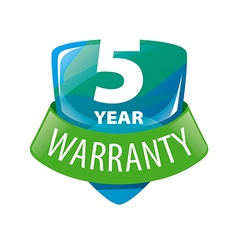 Logo shield 5 year warranty vector
