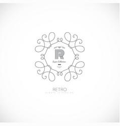 Luxury monogram logo vector