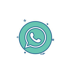 Media network social whatsapp icon design vector