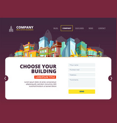 mortgage loan landing web layout real estate vector image