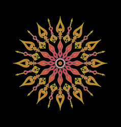 Multicolored mandala ornament vector
