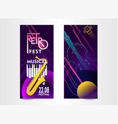 music festival ticket vector image