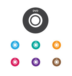 of song symbol on dvd icon vector image