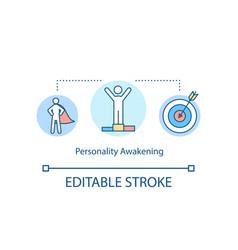 Personality awakening concept icon vector