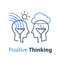 positive thinking cognitive psychology vector image