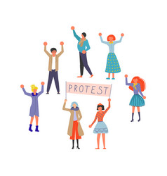 public street protest concept vector image