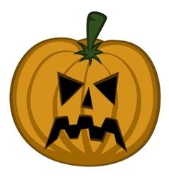 pumpkin head vector image