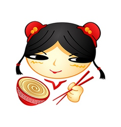 ramen girl vector image