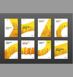 real estate brochure cover design layouts set vector image
