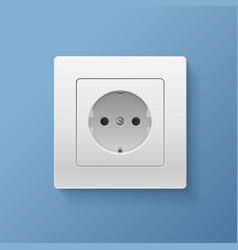 realistic detailed 3d socket electrical power vector image