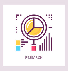 research icon financial data analysis concept vector image