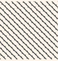 seamless pattern with diagonal lines branches vector image