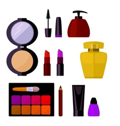 Set cosmetic accessories vector