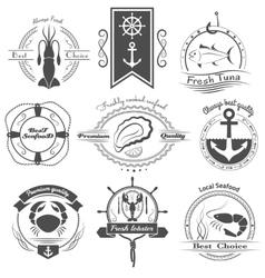 Set logos seafood vector