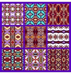 set of different violet colour seamless vintage vector image