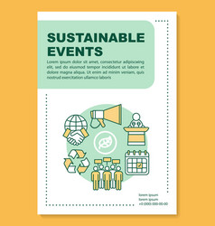 Sustainable event poster template layout eco vector