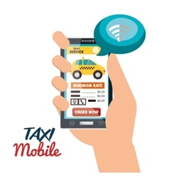 Taxi mobile connection virtual icon vector