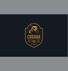The image a coguar or panter vector