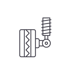 tire fitting line icon concept tire fitting vector image