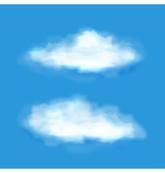 Transparent clouds on a blue sky vector