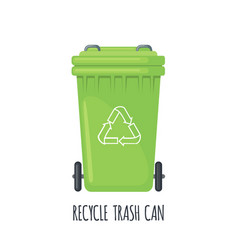 trash can for separate garbage icon on white vector image