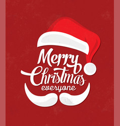 Typographic christmas design with santa vector