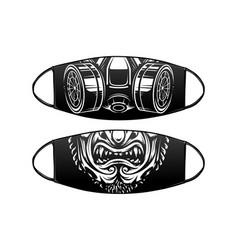 virus protection black mask design vector image