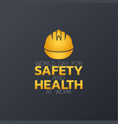 world day for safety and health at work logo icon vector image