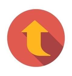 Yellow arrow icon flat style vector image