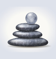 Zen spa stones stack with abstract textured vector